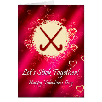 field hockey valentines day card template
