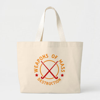 Field Hockey Weapons of Destruction Large Tote Bag