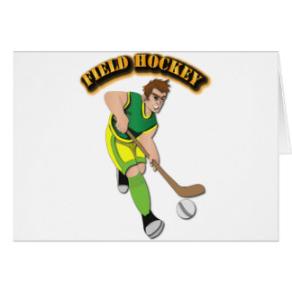 Field Hockey with Text Card