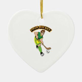 Field Hockey with Text Ceramic Ornament