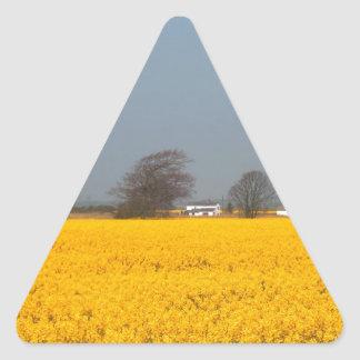 Field in Bloom & Country Cottage Triangle Sticker