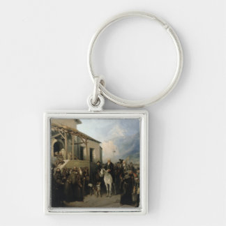 Field-marshal Alexander Suvorov Silver-Colored Square Keychain