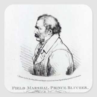 Field Marshal Prince Blucher of Wahlstadt Square Sticker