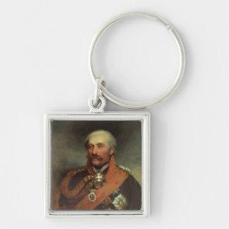 Field Marshal Prince Von Blucher  c.1816 Silver-Colored Square Keychain
