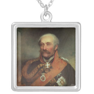 Field Marshal Prince Von Blucher  c.1816 Square Pendant Necklace