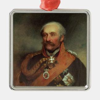 Field Marshal Prince Von Blucher  c.1816 Square Metal Christmas Ornament