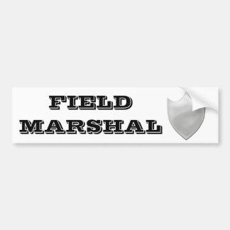 Field Marshal Shield Bumper Sticker