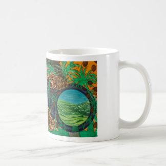 Field mice and paddy frogs, cropland in binoculars coffee mug