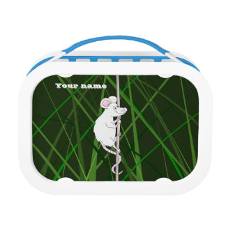Field mouse in tall green grass lunch box
