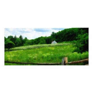 Field Near Weathered Barn Rack Card