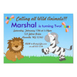 Field of Animals Birthday Party Invitations