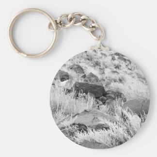 Field of Basalt Basic Round Button Keychain