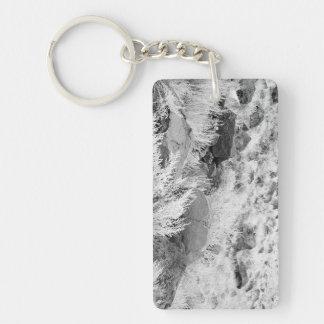 Field of Basalt Double-Sided Rectangular Acrylic Keychain