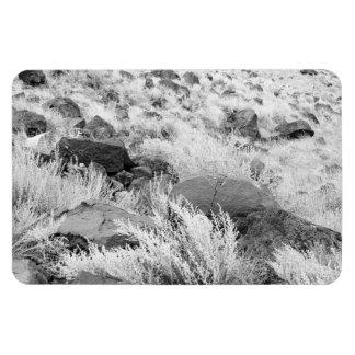 Field of Basalt Rectangular Photo Magnet
