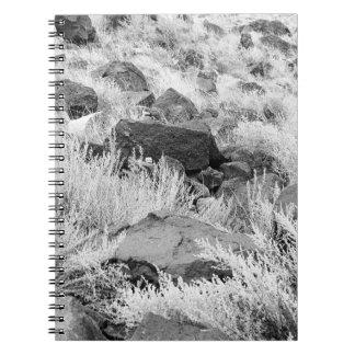 Field of Basalt Spiral Notebook