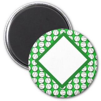 Field of BaseBalls 2 Inch Round Magnet