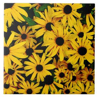 Field of Black-Eyed Susans Tile