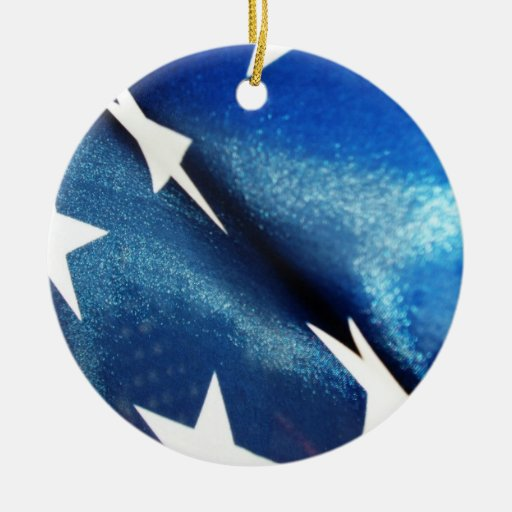 Field of Blue (1) Christmas Tree Ornament