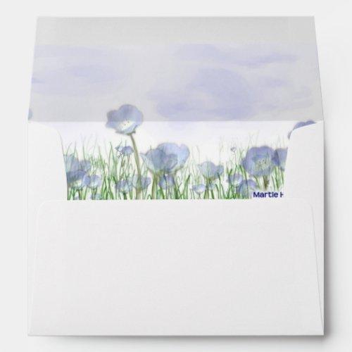 Field of Blue Flowers Envelope