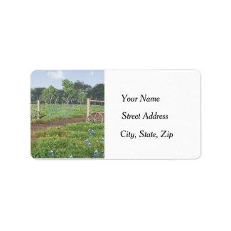 Field of Bluebonnets - Address Labels