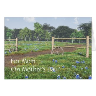 Field of Bluebonnets - Mother's Day Card
