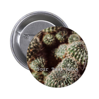 Field of Cacti, Warm Red Botanical Photograph 2 Inch Round Button