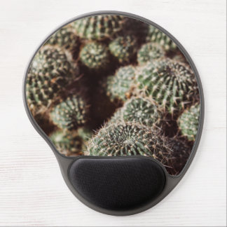 Field of Cacti, Warm Red Botanical Photograph Gel Mouse Pad