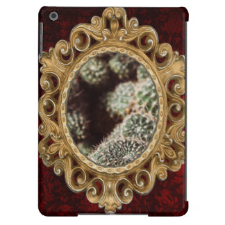 Field of Cacti, Warm Red Botanical Photograph iPad Air Case