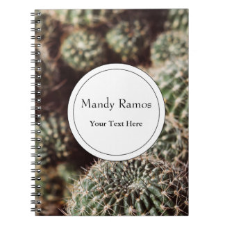 Field of Cacti, Warm Red Botanical Photograph Notebook
