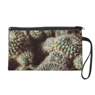 Field of Cacti, Warm Red Botanical Photograph Wristlet