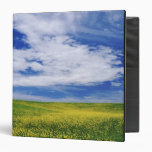 Field of Canola or Mustard flowers, Palouse 3 Ring Binders