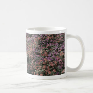 field of colored flowers faded plant photo mugs