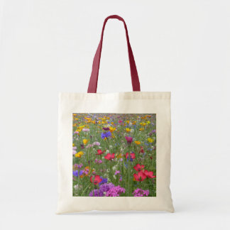 Field of Colorful Flowers Budget Tote Bag
