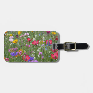 Field of Colorful Flowers Luggage Tag