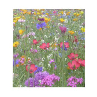 Field of Colorful Flowers Notepad