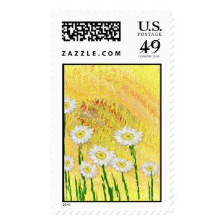 Field Of Daises Postage Stamps
