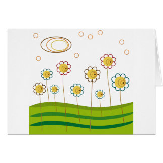 field of daisies card