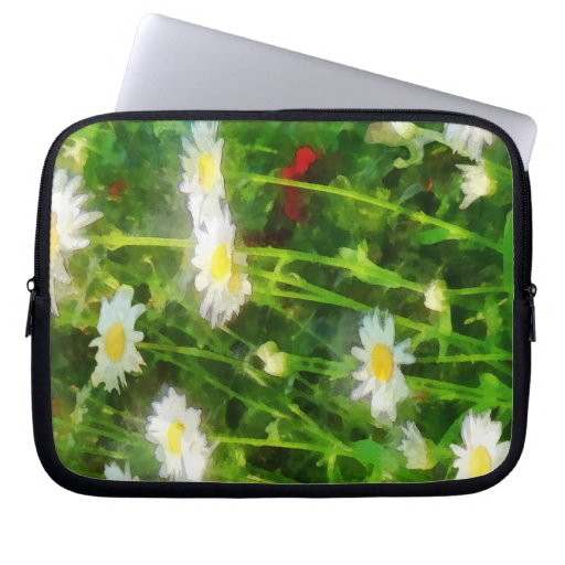 Field of Daisies Laptop Computer Sleeve