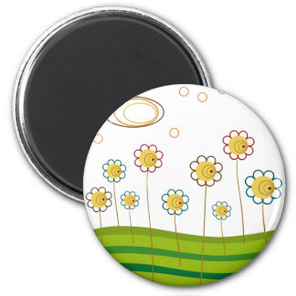 field of daisies magnet
