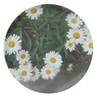 Field of Daisies Melamine Plate