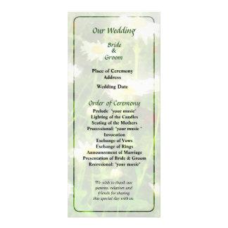 Field of Daisies Wedding Program