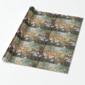 """Field of Dasies 1"" Flower Garden Wrapping Paper"