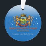 """Field of Dreams Ornament<br><div class=""""desc"""">For all the teams that play bocce on the Field of Dreams.</div>"""
