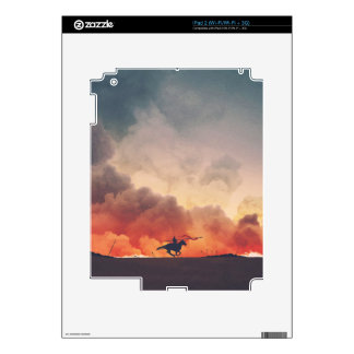 Field Of Flames Decal For The iPad 2