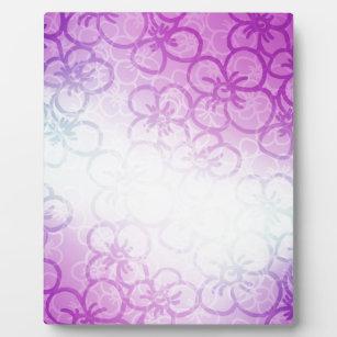Pretty flower patterns photo plaques zazzle field of flower purple plaque mightylinksfo