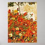 Field of Flowers artwork by Egon Schiele Poster