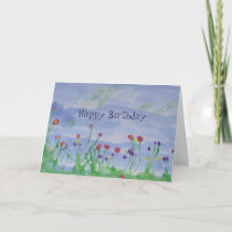 FIELD OF FLOWERS-Birthday Card