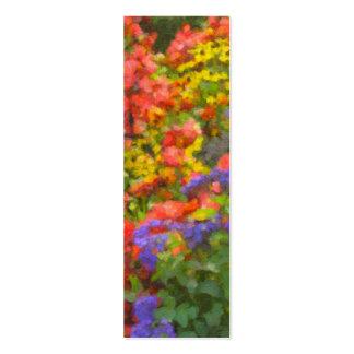 Field of Flowers Bookmark Mini Business Card