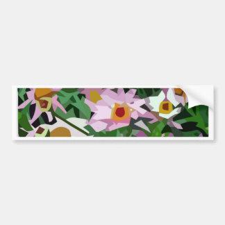 Field of flowers bumper sticker