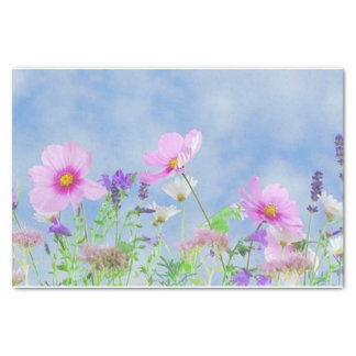 "Field of Flowers 10"" X 15"" Tissue Paper"